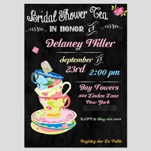 Chalkboard Bridal Tea Party Shower Invitations