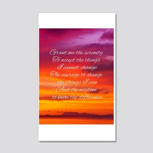 Serenity Prayer - Sunset 20x12 Wall Decal