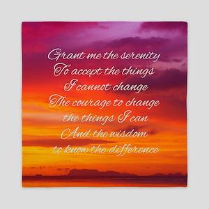 Serenity Prayer - Sunset Queen Duvet