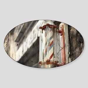 vintage barber shop pole Sticker