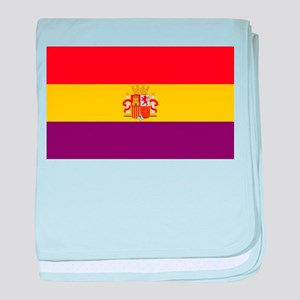 Flag of the Second Spanish Republic baby blanket