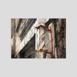 vintage barber shop pole 5'x7'Area Rug