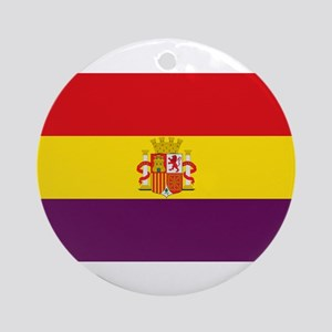 Flag of the Second Spanish Republic Round Ornament
