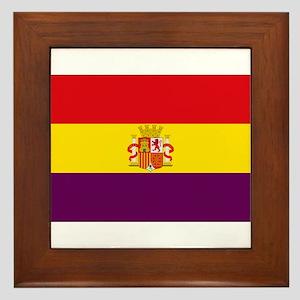 Flag of the Second Spanish Republic Framed Tile