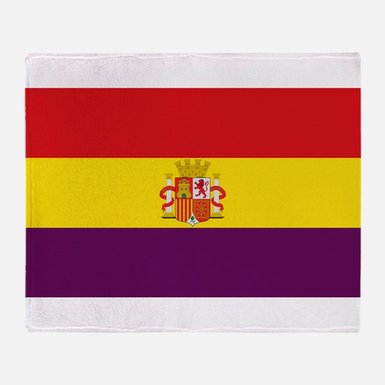 Flag of the Second Spanish Republic Throw Blanket