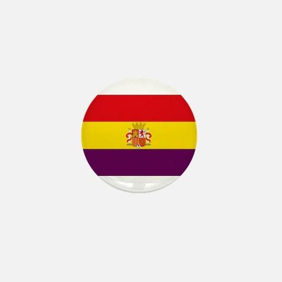 Flag of the Second Spanish Republic Mini Button