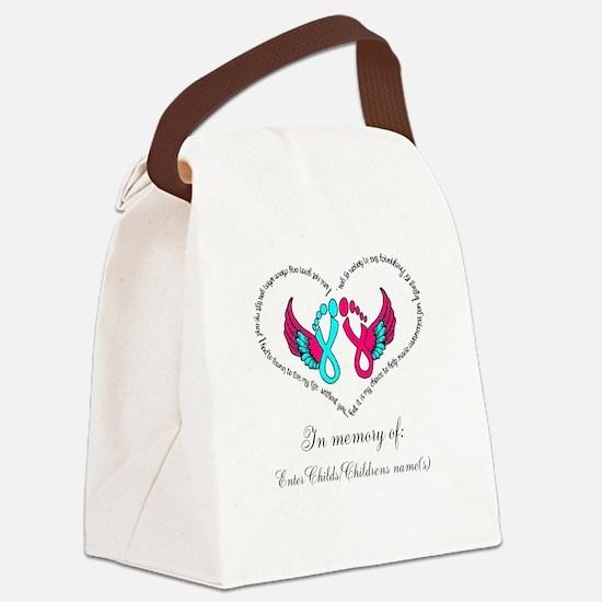 Custom Pregnancy Infant Loss Canvas Lunch Bag