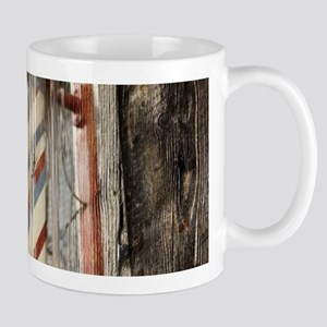 vintage barber shop pole Mugs