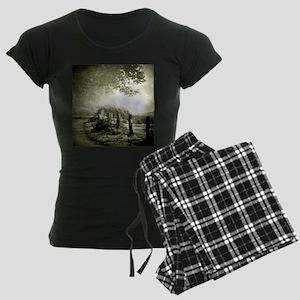 farm western country road Women's Dark Pajamas