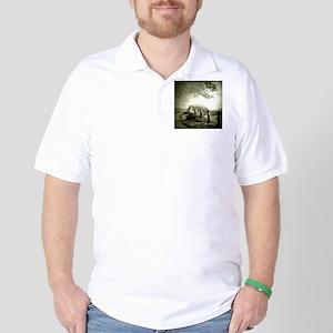 farm western country road Golf Shirt