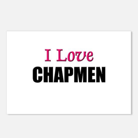I Love CHAPMEN Postcards (Package of 8)