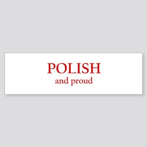 Polish and Proud Bumper Sticker