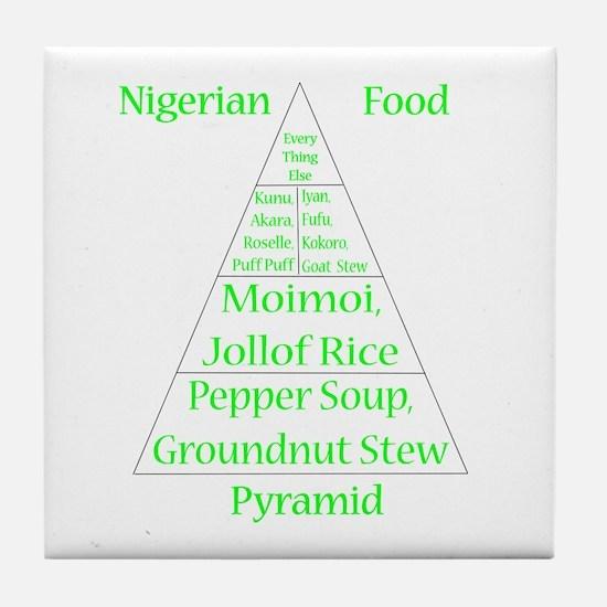 Nigerian Food Pyramid Tile Coaster