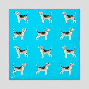 beagles in blue Queen Duvet