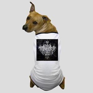 rustic grunge vintage chandelier Dog T-Shirt