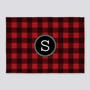 S Monogram Buffalo Plaid 5'x7'Area Rug
