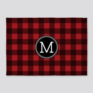 M Monogram Buffalo Plaid 5'x7'Area Rug