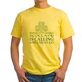 Scotland Mens Classic Yellow T-Shirts