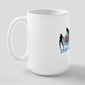 Stay Classy XXX Three Silhouettes Large Mug