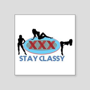 Stay Classy XXX Three Silhouettes Sticker