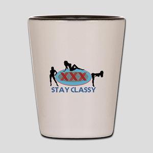 Stay Classy XXX Three Silhouettes Shot Glass