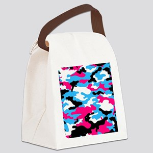 pink camo Canvas Lunch Bag