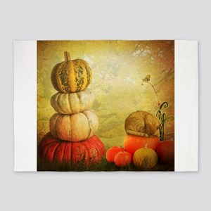 Pumpkin and Cat 5'x7'Area Rug