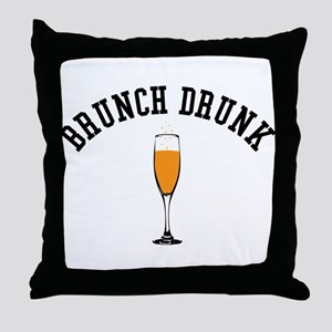 Brunch Drunk Throw Pillow