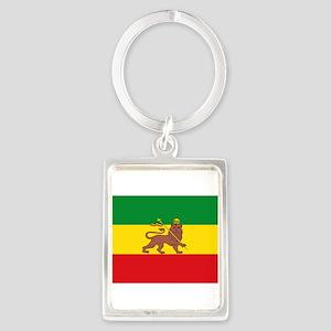 Ethiopia Flag Lion of Judah Rasta Reggae Keychains