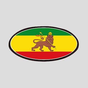 Ethiopia Flag Lion of Judah Rasta Reggae Patch
