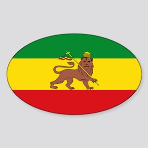 Ethiopia Flag Lion of Judah Rasta Reggae Sticker