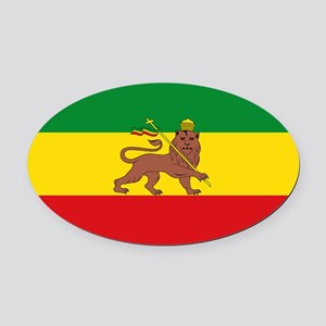 Ethiopia Flag Lion of Judah Rasta Reggae Oval Car