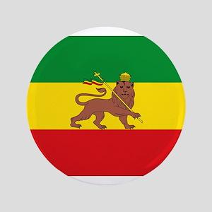 Ethiopia Flag Lion of Judah Rasta Reggae Button