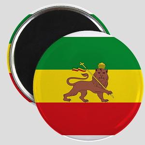 Ethiopia Flag Lion of Judah Rasta Reggae Magnets