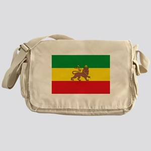 Ethiopia Flag Lion of Judah Rasta Reggae Messenger
