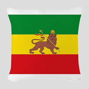 Ethiopia Flag Lion of Judah Rasta Reggae Woven Thr
