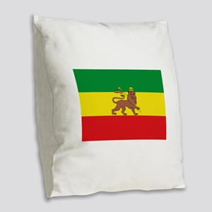 Ethiopia Flag Lion of Judah Rasta Reggae Burlap Th