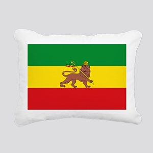 Ethiopia Flag Lion of Judah Rasta Reggae Rectangul