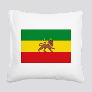 Ethiopia Flag Lion of Judah Rasta Reggae Square Ca