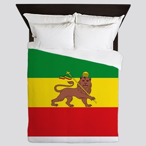 Ethiopia Flag Lion of Judah Rasta Reggae Queen Duv