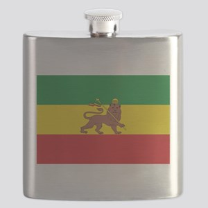 Ethiopia Flag Lion of Judah Rasta Reggae Flask