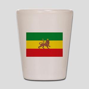 Ethiopia Flag Lion of Judah Rasta Reggae Shot Glas