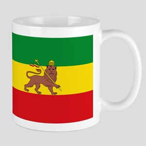 Ethiopia Flag Lion of Judah Rasta Reggae Mugs