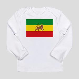 Ethiopia Flag Lion of Judah Rasta Reggae Long Slee