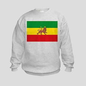 Ethiopia Flag Lion of Judah Rasta Reggae Sweatshir