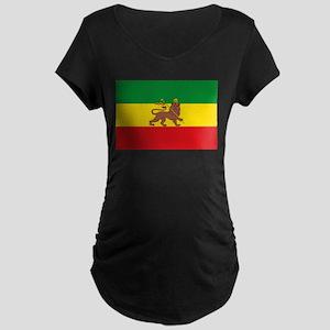 Ethiopia Flag Lion of Judah Rasta Reggae Maternity