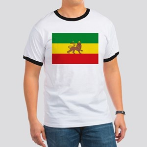Ethiopia Flag Lion of Judah Rasta Reggae T-Shirt