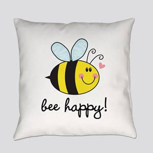 Bee Happy Everyday Pillow
