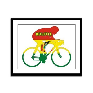 Bolivia Cycling Framed Panel Print