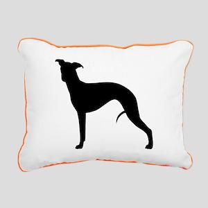 Whippet Silhouette Rectangular Canvas Pillow